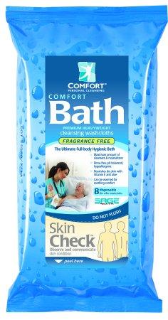 Comfort Bath Cleansing Washcloths, 8 Pack of 8 Washcloths