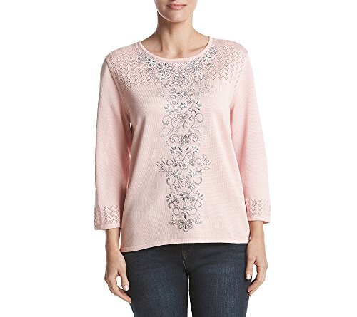 Alfred Dunner Sweater (Alfred Dunner Center Embroidered Sweater X-Large)