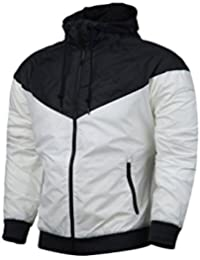 Mens Outdoor Active Lightweight Hooded Jacket Full Zip Outerwear