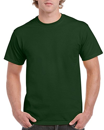 Gildan Men's Ultra Cotton Tee, Forest Green,