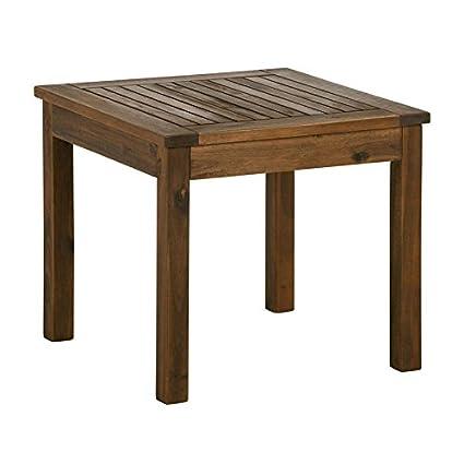 Gentil Pemberly Row 20u0026quot; Wood Patio Simple Side Table   Dark Brown