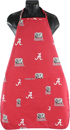 College Covers NCAA Alabama Tide Apron, One Size Fits All, Crimson
