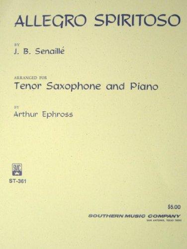 Allegro Spiritoso for Tenor Saxophone and Piano