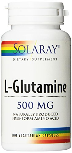 Solaray L Glutamine Free Form Supplement, 500 mg, 100 Count