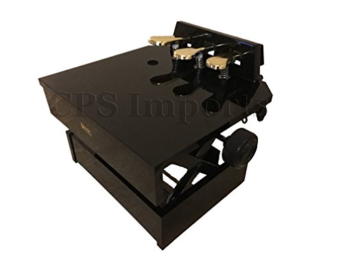 Wood Adjustable Piano Pedal Extender Bench in Ebony
