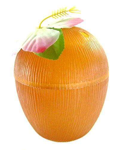 Plastic Luau Coconut-shaped Cups 13 Oz. (3-pack)
