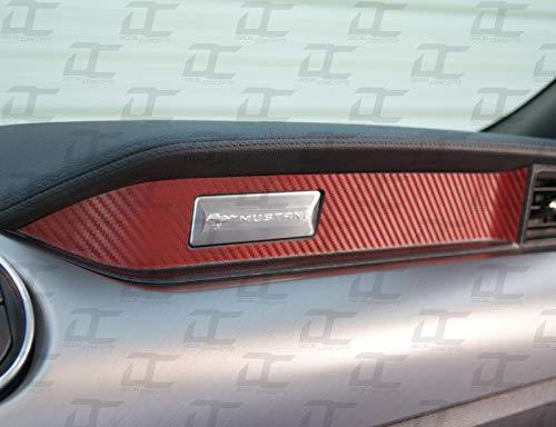 Decal Concepts Carbon fiber Passenger Dash Trim Decal Accent Kit - (Fits Mustang 2015-2019)(Red Carbon Fiber)