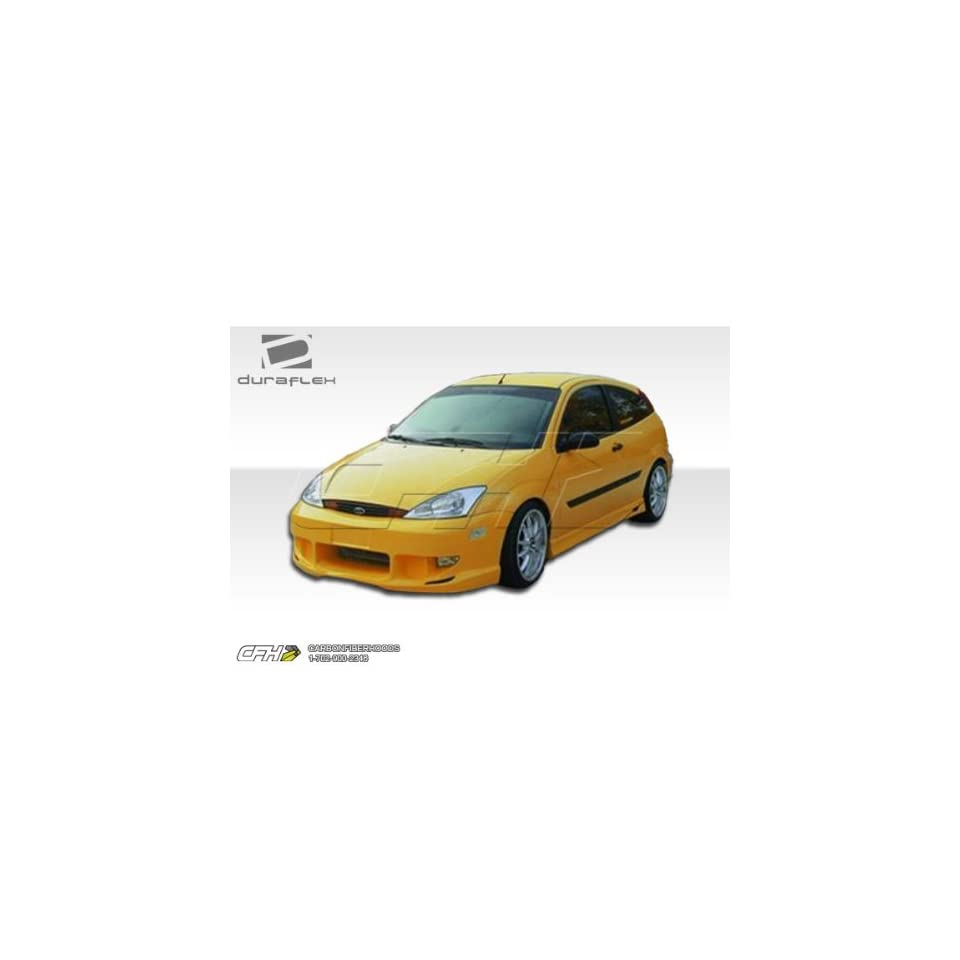 2000 2004 Ford Focus ZX3/ZX5 Duraflex Poison Kit Includes Poison Front Bumper (100041), Poison Rear Bumper (100038), and Poison Sideskirts (100042).