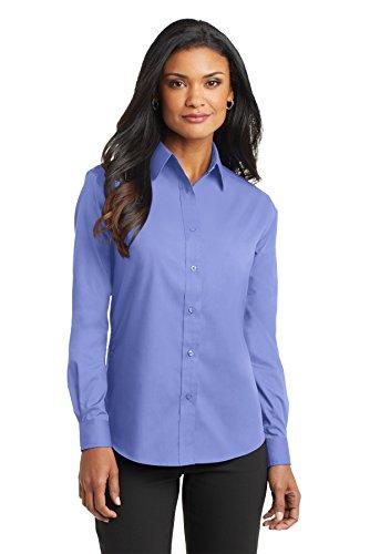 Puerto para mujer con mariposa de manga larga para Value camiseta de manga corta popelín azul claro