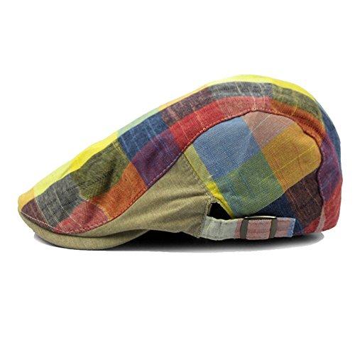 - Idopy Colored Plaid Longshoreman`s Flat Newsboy Cap Irish Ivy Hat 2