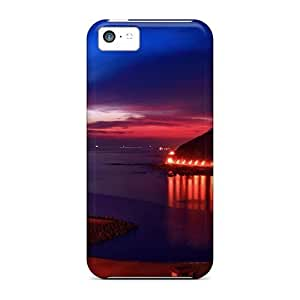 Brand New 5c Defender Case For Iphone (evening On The Bay)