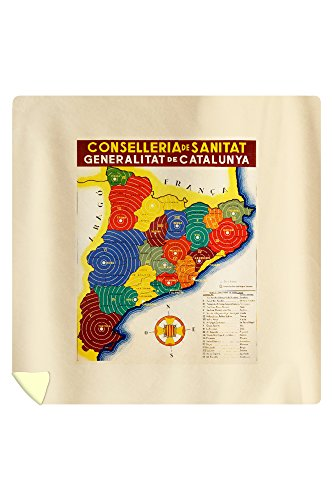 Conselleria de Sanitat - Catalunya Vintage Poster Spain c. 1936 (88x88 Queen Microfiber Duvet Cover) by Lantern Press