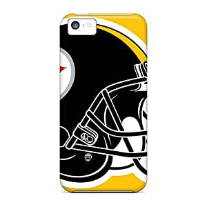 Hot Style YEe9418BtFG Protective Cases Covers For Iphone5c(pittsburgh Steelers)