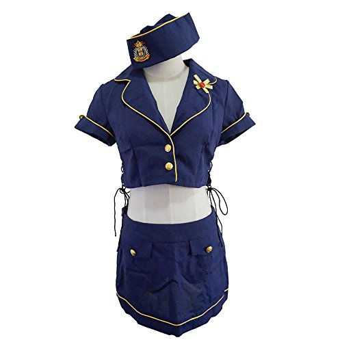 Flight Accessories Costumes Attendant (Triple S' Sexy Flight Attendant Costume)