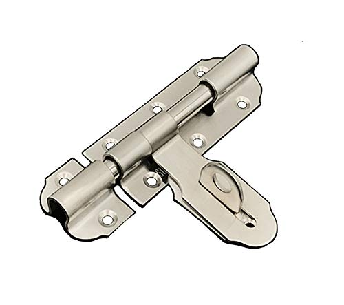 - NELXULAS Heavy-Duty Thickened Brushed Stainless Steel Door Lock Latch Slide Barrel Bolt Clasp Set (4