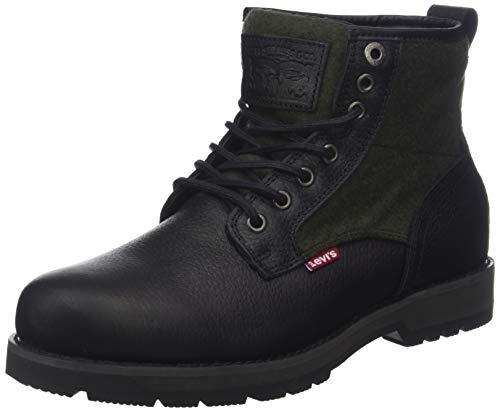 Levi's Logan, Stivali Desert Boots Uomo Nero (Noir Regular Black 59)