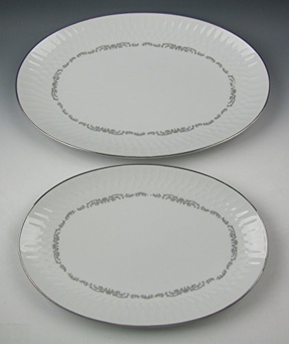 (Lot of 2 Noritake China CAMDEN Oval Serving Platters EXCELLENT)