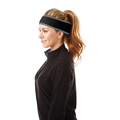 - Head First Protective Curling Headgear: Headband - Black w Charcoal - S/M