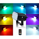 Mini Stage Strobe Light w/ 48 Super Bright Leds, softeen Stage Lighting 7 Colors Sound Activated & Automated Flash Mode w/Flash Speed Control, Wireless Remote, Ideal for Wedding Bars Disco KTV Club