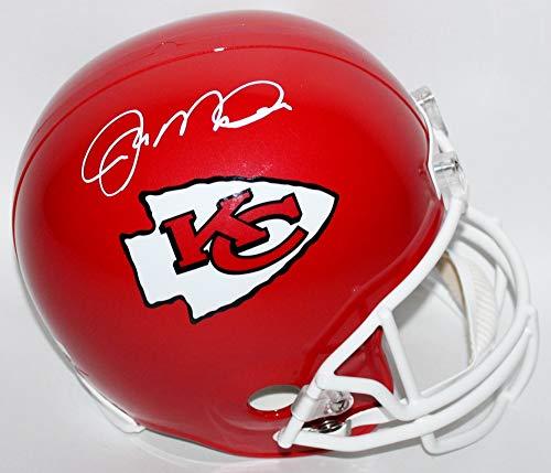 (Joe Montana Kansas City Chiefs Signed Autograph Full Size Helmet JSA Witnessed)