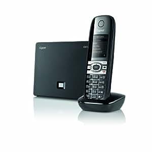 Gigaset C610 IP - Teléfono (DECT, Escritorio, Negro, Gris, Auricular, G.711, G.722, G.726, G.729, SIP)