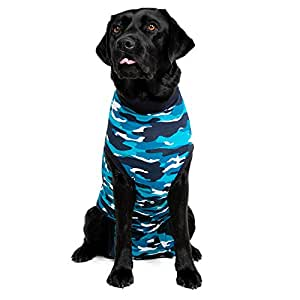 Suitical Recovery Suit Perro, M+, Camuflaje Azul