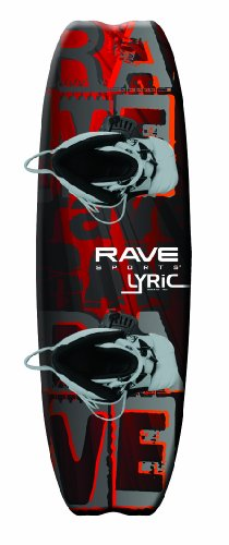 RAVE Sports Lyric Premier Wakeboard with Advantage Boots Fits Most Adults