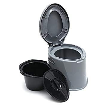 796dd0335e0 5L Portable Camp Toilet Flush Travel Camping Hiking Outdoor Indoor Potty  Commode grey COLOR  Amazon.co.uk  Sports   Outdoors