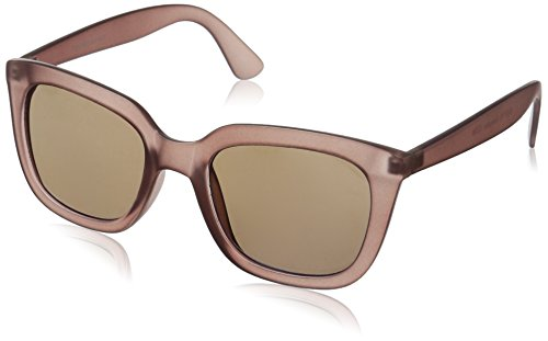 Foster Grant Women's Grayson Wayfarer Sunglasses, Gray, 51 - Mirroed Sunglasses
