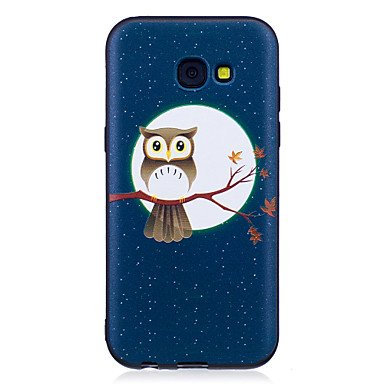Casos hermosos, cubiertas, Para la galaxia a3 del samsung (2017) a5 (2017) caja del teléfono de la caja suave de la sensación del tpu de la sensación del búho de la ( Modelos Compatibles : Galaxy A5(2 Galaxy A5(2017)
