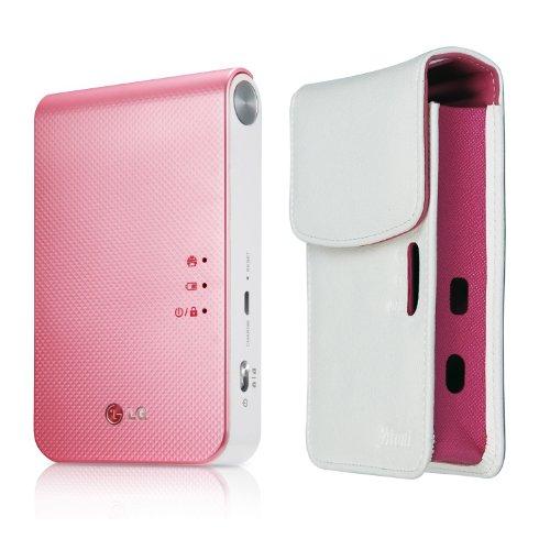 LG Pocket Photo 2 PD239 (Pink) Mini Portable Mobile Photo Printer + [White] Atout Premium Synthetic Leather Cover Case, Best Gadgets