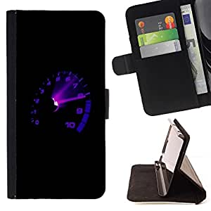 BETTY - FOR Samsung Galaxy S6 - Car Tach Max RPM Boost - Style PU Leather Case Wallet Flip Stand Flap Closure Cover