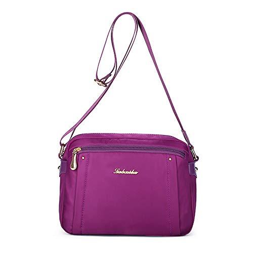 en nouveau violet à femmes sac en sac sac nylon imperméable simple LANDONA petit Mme en occasionnels de sac toile bandoulière Messenger femme tissu sac O4AwZxgTHq