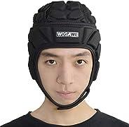 Multi-Sport Soft Shell Padded Protective Headgear, WOSAWE Soft Shell Rugby Flag Football Helmet Soccer Goalie