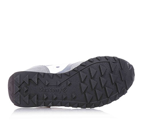 SAUCONY - Zapatilla deportiva gris con cordones, en gamuza y sintético, colorida, cómoda y de moda, Unisex-niños, niña ANTRACITE-BIANCO