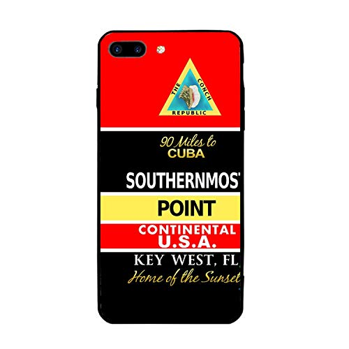 Southernmost Buoy Personalized iPhone 7/8 Plus Cover Shockproof Hard PC Compatible for iPhone 7/8 Plus Case 5.5