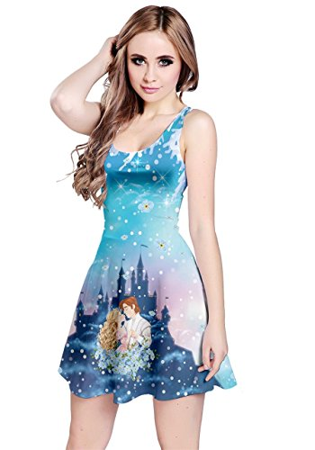 CowCow Womens Princess Story Sleeveless Dress, Princess - -