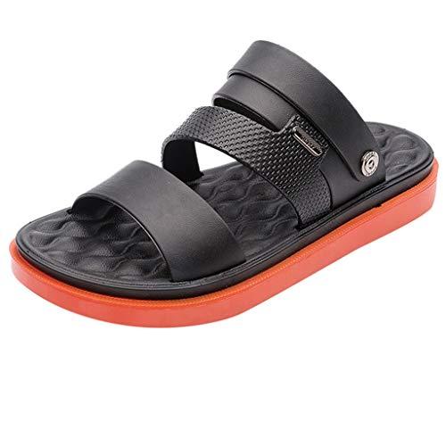 Summer Crew Shoes New Men Casual Shoes Fashion Summer Vintage Sandal Flip Flops Shoes Orange