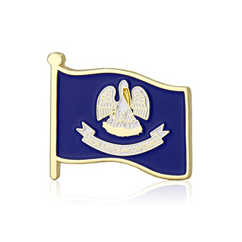 (GS-JJ Louisiana Flag Enamel Lapel Pin (10 Pack))