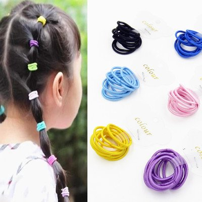10 Children dress hair accessories hair rope do not hurt the hair rubber band baby girls baby hair clips hair ring Tousheng headdress small for women girl lady Generic