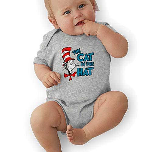 Baby Boy Bodysuit, The Cat in The Hat Unisex Newborn Infant Bodysuit Baby Clothes Gray]()