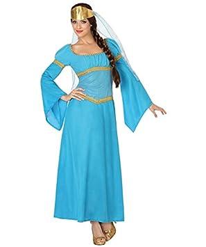Atosa - 26311 - Disfraz Dama Medieval - talla XS-S - Color Azul para Mujer Adulto