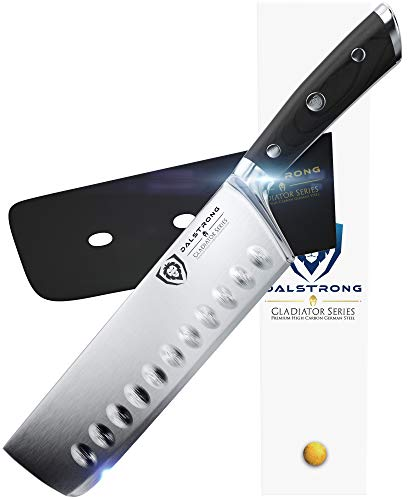 "DALSTRONG Nakiri Asian Vegetable Knife - Gladiator Series - German HC Steel - 7"" (180mm)"