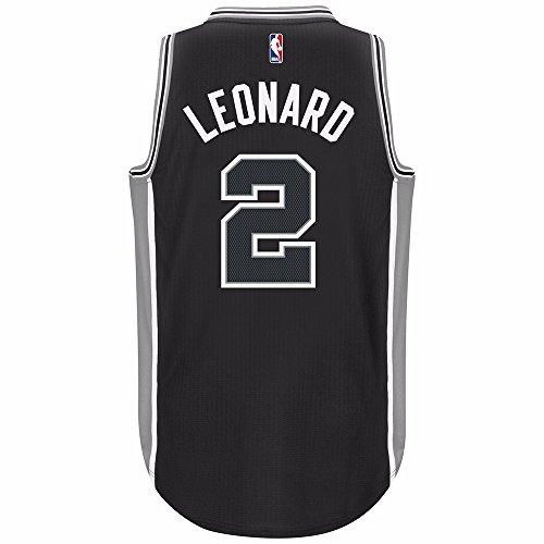 Kawhi Leonard San Antonio Spurs Black Adidas Swingman Jersey (S)