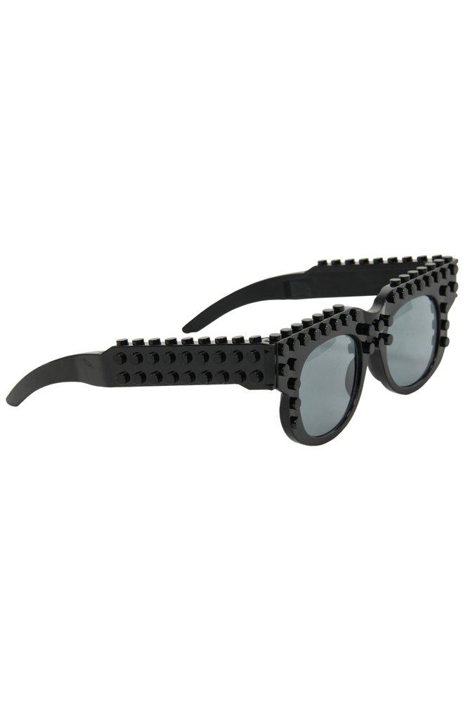 ELOPE Bricky Blocks Black Costume Wayfarer Sunglasses by