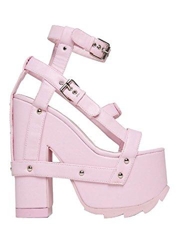 YRU Nightcall Pastel Gothic Lolita Women's Platform Sandal Baby Light Pink
