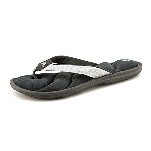 ebbf81686096 adidas Chilwyanda Glitter Flip-Flops - Black Metallic Silver (Women) - 6