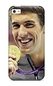 Brand New 5c Defender Case For Iphone (michael Phelps Poster )