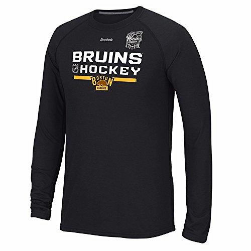 Boston Bruins NHL Reebok Men's Black 2016 Winter Classic Ultimate Long Sleeve T-Shirt (XL) Reebok Classic T-shirt