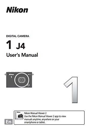Price comparison product image Nikon 1 J4 Instruction Booklet - Original English Owner User Operation Manual (Printed)